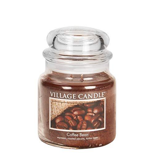 Village Candle Bohnenkaffee Duftkerze im Glas, 454 g, braun, 9.7 x 9.5 cm