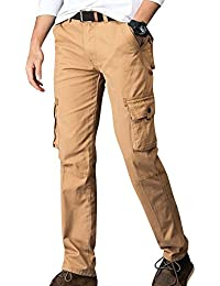 AnyuA Hombre Multi Bolsillos Militar Cargo Casual Work Pantalones 7jwHeR0p