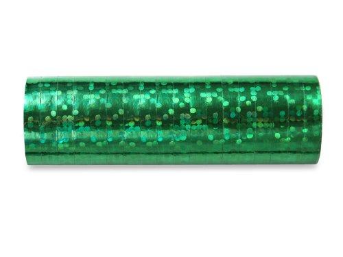 jakopabra holographische Luftschlangen (grün) - Grüne Luftschlangen