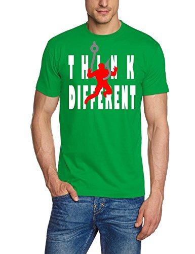 Anglershirt Think Different - Angler am Haken T-Shirt green Gr.2XL - Think Green T-shirt