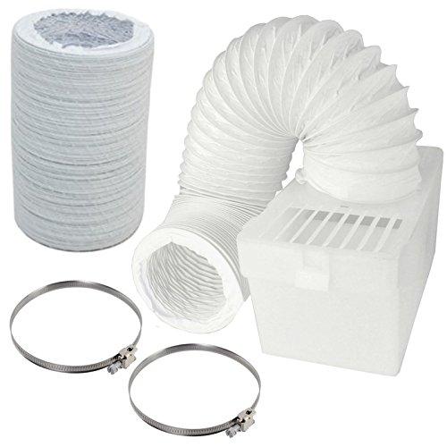 Spares2go Boîte de condensation et extra long kit de tuyaux avec colliers de serrage pour Bosch sèche-linge (10,2 cm/100 mm de diamètre)