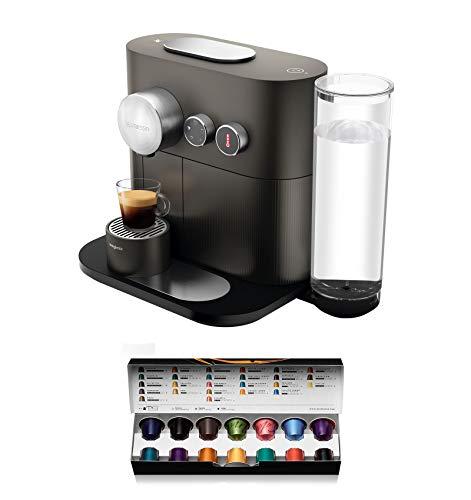 Nespresso De'Longhi Expert EN350.G - Cafetera monodosis de cápsulas Nespresso, controlable con smartphone mediante bluetooth, recetas ajustables, 19 bares, apagado automático, color gris antracita