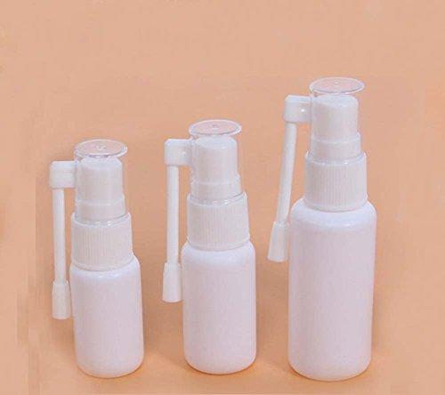 Weiße, tragbare, nachfüllbare Kunststoff-Nasenspray-Flasche mit drehabrem 360-Grad-Zerstäuber - 6 Stück - 10ml/20ml/30ml (10–30g) - für Make-up & Wasser - Behälter für den Gebrauch zu Hause und auf Reisen