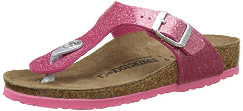 BIRKENSTOCK Kids Mädchen Gizeh Zehentrenner, Pink (Magic Galaxy Bright Rose), 38 EU