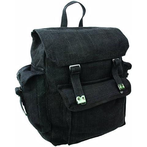 Zip Zap Zooom - Zaino militare da uomo, in stile combattimento, per backpackers, borsa a spalla con spallacci, in tela di cotone