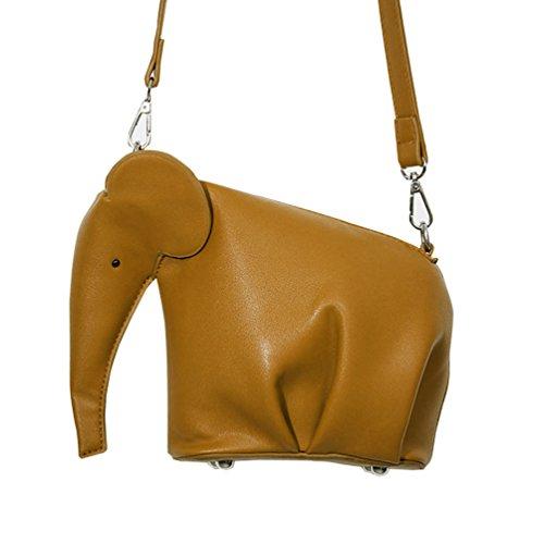 70ce64ca1b750 Vbiger PU Leder Schultertasche Elephant Shaped Umhängetasche Beiläufig  Kuriertaschen Modische Einzel-Schulter-Tasche für