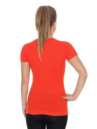 Brubeck ss11700Active Wool T-shirt pour femme Fonction (Mérinos de Sport Fitness unterhemd linge) rouge