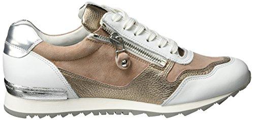 Kennel und Schmenger Schuhmanufaktur Damen Runner Sneakers Mehrfarbig (Bianco/Rosé-Gold Sohle Weiss)