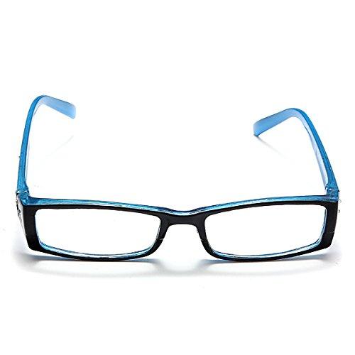TENGGO Blue Female Diamond Flower Frame Presbyopic Reading Glasses Eyeglasses 1.0 1.5 2.0 2.5 3.0 3.5 4.0-3