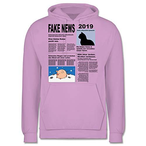 Shirtracer Karneval & Fasching - Fake News 2019 Kostüm Newspaper Zeitung - L - Lavendel - JH001 - Herren Hoodie (Übergröße Schwein Kostüm)