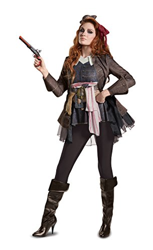 Women's Captain Jack Sparrow Deluxe Fancy dress costume (Für Kostüme Sparrow Captain Jack Kinder)