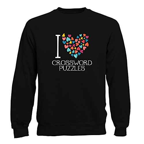 Idakoos I love Crossword Puzzles colorful hearts - Ocio - Sudadera