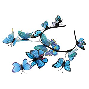 Baoblaze Damen Mädchen Schmetterling Haarreif Haarband Stirnband Haarschmuck Fotografie Requisiten, Farbewahl