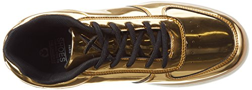 Wize & Ope Led-gold, Sneakers basses mixte adulte Doré