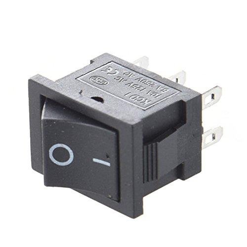 TOOGOO(R) 10pz AC 6A / 250V 10A / 125V 6 Pin DPDT ON / ON 2 Posizione Snap Interruttore a bilanciere