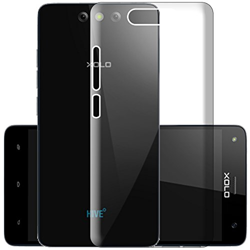 ECellStreet Exclusive Transparent Soft Back Case Cover Back Cover for Xolo Black