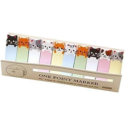 Gato de dibujos animados Oficina / Home / Escuela Sticky Pads 5 Packs