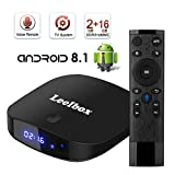 Leelbox TV Box Q2 PRO Android tv 8.1 Vier Kern 2GB RAM+16GB ROM/2.4G WLAN/Volles HD/3D/4K H.265 Android TV Version mit Sprachfernbedienung