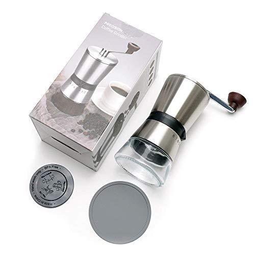 Winpavo Kaffeemühle Maschine Kaffeemühlen Grinder Molinos De Café Manuales De Precisión Ajustables Acero Inoxidable Cepillado 18/8