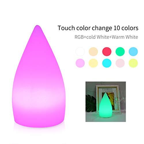 Intelligente Tischlampe LED Wassertropfen Nachttischlampe Kompatibel mit Alexa Google Home WiFi RGB Nachtlichter, Kontrolliert von Stimme/APP/Touch Dimmbare Timer Szenenanpassung USB Rechargeable