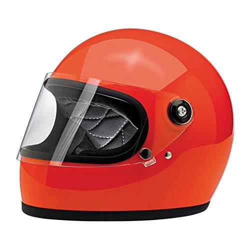 Casco Integrale Gringo S Biltwell Gloss Hazard Orange Arancio Arancione OMOLOGATO Doppia OMOLOGAZIONE ECE (Europa) & DOT (America) Helmet Biker Custom Vintage Retrò Anno 70 Taglia L