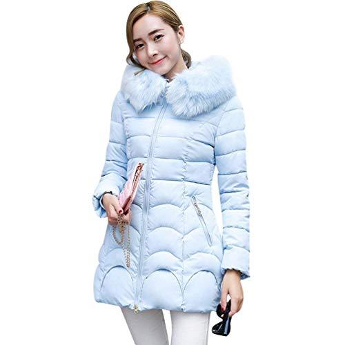 Bolawoo giubotto donna invernali taglie forti eleganti puro colore giaccone cappotti caldo mode di marca con pelliccia accogliente fashion casual grezzi cappotto trapuntato incappucciato
