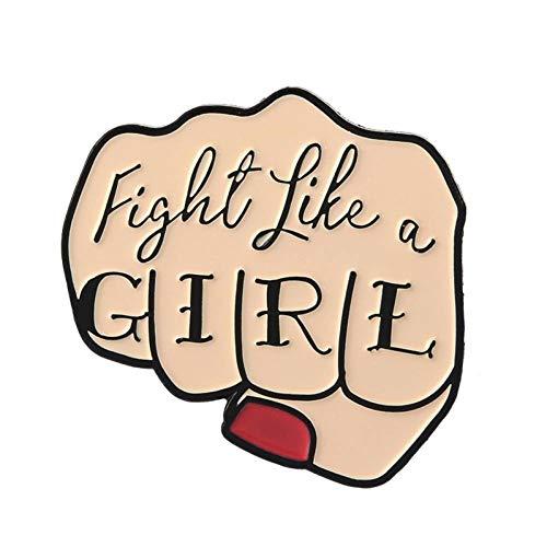 JTXZD Broche Citar Esmalte Pin Feminista Girl Power Stranger NO Bad Vibes Insignia Broche Pin de Solapa Jeans Camisa Bolsa de Dibujos Animados