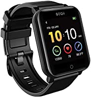 GOQii Smart Vital Fitness SpO2, body temperature and blood pressure smartwatch regular with 3 months personal