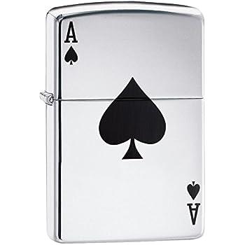 Zippo Ace Winddichtes Feuerzeug, Edelstahl, Silver 10.2 x 8.9 x 5.1 cm