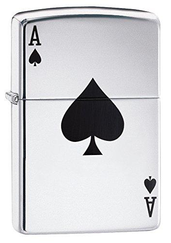 Zippo Ace Winddichtes Feuerzeug, Edelstahl, Silver, 10.2 x 8.9 x 5.1 cm (Zippo Made In Usa Feuerzeug)