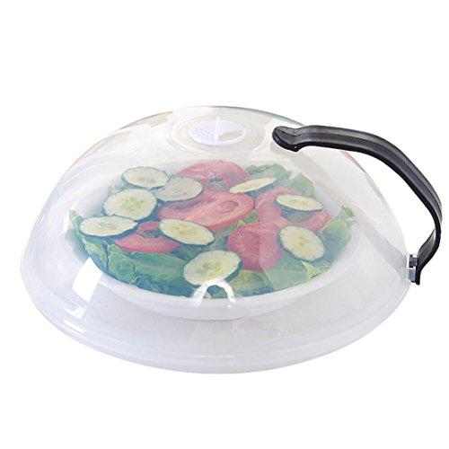 Microwave Food Guard ,Xinxinyu Food Multifunction Splatter Guard Microwave Hover Anti-Sputtering Cover Kitchen Tool (Black)
