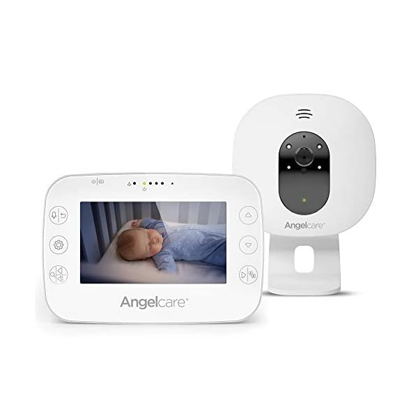 Angelcare Ac320 Baby Video Monitor Angelcare 4.3'' Large led screen Ideal for multiples & toddler, you can add an extra nursery unit* Wall-mount or tabletop nursery unit 1