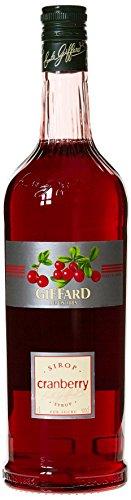 Giffard Sirop Cranberry 1 L - Lot de 3