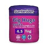Slumberdown Big Hugs - Edredón para cama doble, blanco