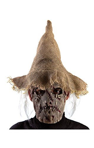 euche Latex-Maske mit Hut (Vogelscheuche Hut Erwachsenen)