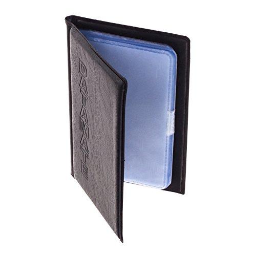 Smartfox Visitenkartenmappe Visitenkartenetui für bis zu 60 Karten (max. Kartengröße: 5,5 cm x 9 cm) 30 Sichthüllen in schwarz
