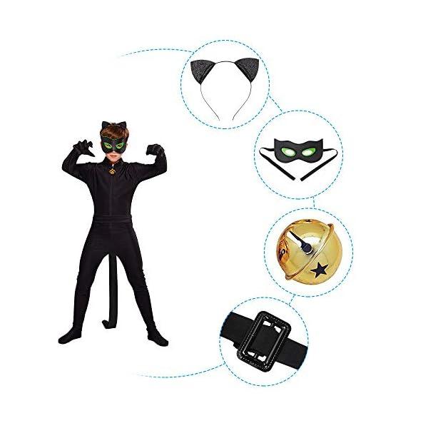URAQT Ladybug Costume , Miracolosa Coccinella Ragazze, Costumi Cosplay di Carnevale e Halloween, Set 3 Pezzi Vestiti… 3 spesavip