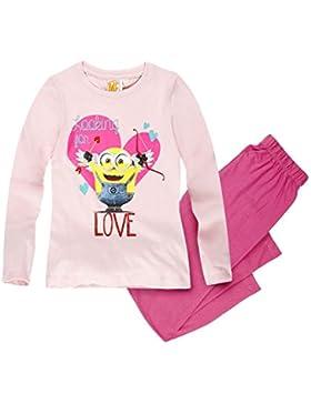 Minions Despicable Me Mädchen Pyjama Schlafanzug 2016 Kollektion - pink