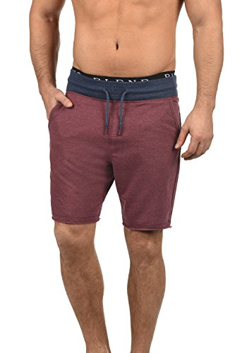 Blend Julio Herren Sweatshorts Kurze Hose Sport- Shorts aus Hochwertiger Baumwollmischung Meliert, Größe:S, Farbe:Zinfandel (73006)