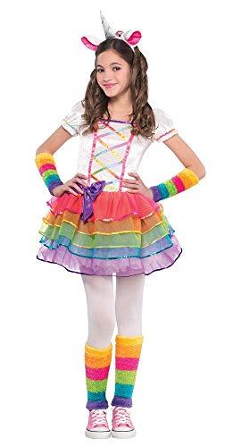 Unicorn Kostüm Mädchen - Das Kostümland Rainbow Unicorn - Regenbogen