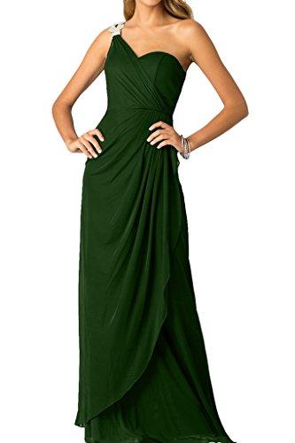 Ivydressing Damen Ein-Schlter Mit Strass Festkleid Promkleid Ballkleid Abendkleid Dunkelgruen