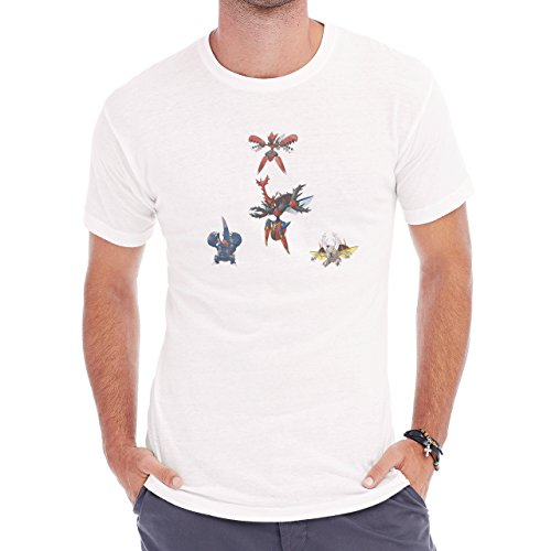 Digimon Tentomon Bug Kabuterimon Pokemon Herren T-Shirt Weiß