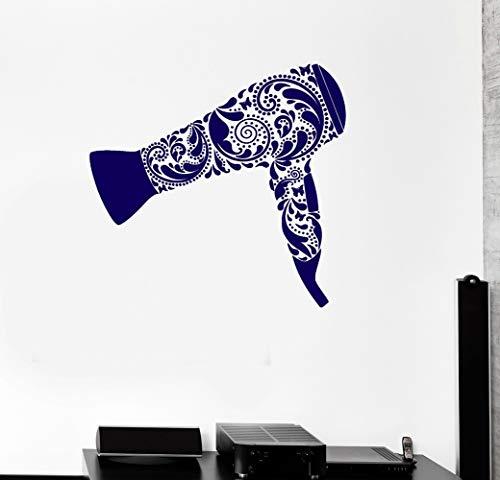 wandaufkleber 3d Wandtattoo Wohnzimmer Friseur Zeichen Aufkleber Beauty Salon Vinyl Aufkleber Vinyl Aufkleber Haartrockner Barber Tool Friseur Friseur Wandaufkleber (Haartrockner Disney)
