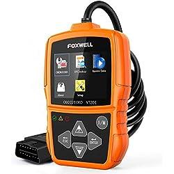 FOXWELL OBD2 Reader, NT201 Universal OBD2 Scanner Car Diagnostic Scan Tool Check Engine Light Auto Fault Code Reader for Car Engine OBD2/EOBD (Upgrade Version)