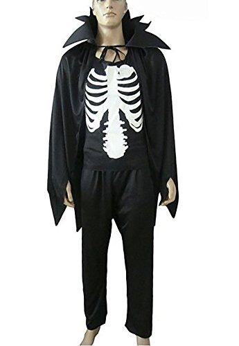 Islander Fashions Adult Neuheit Skelett Cape Kost�m Unisex Halloween Fancy Party Kleid Outfit One Size