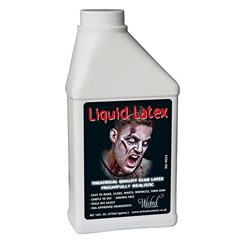 Liquid Latex - 16oz (500ml) Karneval / Halloween Make Up Zubehör ... (Latex Halloween)
