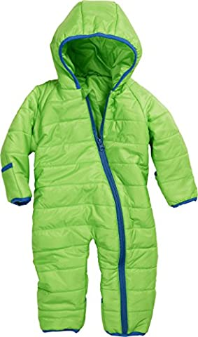 Schnizler Unisex Baby Schneeanzug Stepp - Overall, Gr. 74, Grün (grün 29)