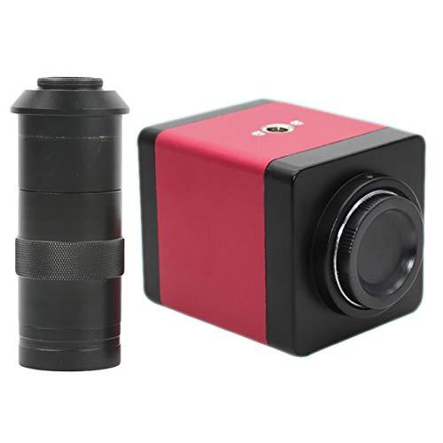 TOOGOO Telecamera per Microscopio Video Hdmi Vga HD Industry Versione 14Mp 8~130X Zoom C-Mount per Obiettivo + Telecomando (Spina UE)