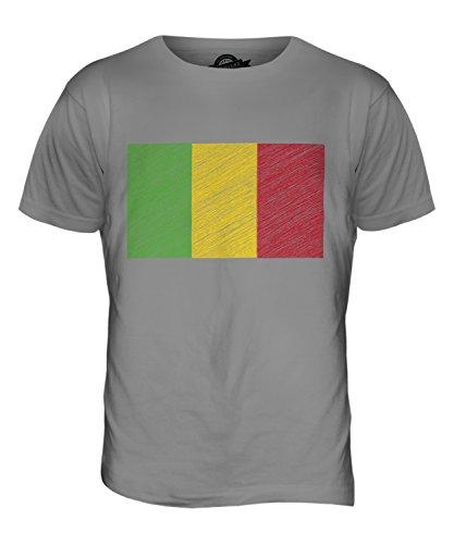CandyMix Mali Kritzelte Flagge Herren T Shirt Hellgrau