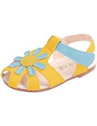 b5b1d2c09cc HUHU833 Toddler Children Baby Girl Sunflower Sole Beach Princess Sandals -  for 1-6 Years